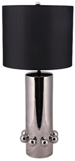 Bearings Table Lamp with White Shade