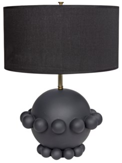 Scepter Lamp with Black Shade, Ceramic