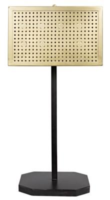 Lounge Lamp, Antique Brass