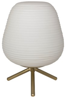 Foka Table Lamp, Antique Brass