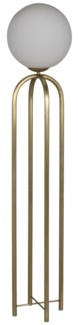 Moriarty Floor Lamp, Antique Brass