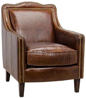 973 Club Chair, Vintage Leather