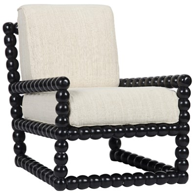 Lorde Lounge Chair, Hand Rubbed Black
