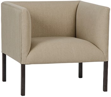 Futura Club Chair with Metal Base
