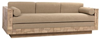 Brutalist Sofa, Washed Walnut