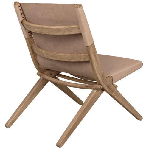 Caedo Chair, Distressed Mindi w/Leather