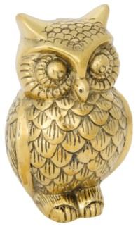 Owl, B, Brass