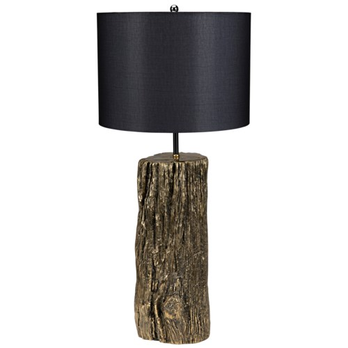 Z Soma Table Lamp with Shade, Brass