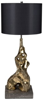 Inattentive Table Lamp with Shade, Brass