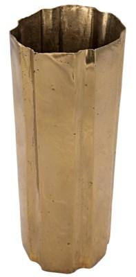 Edge Vase, Brass