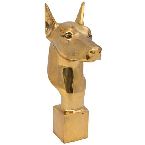 Doberman Dog, Brass