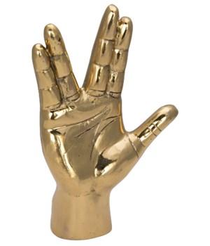 Vulcan Hand Sign, Brass