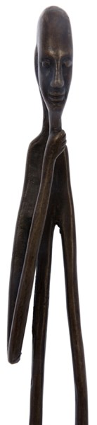 Toca Statue, Brass, Antique Finish As Shown