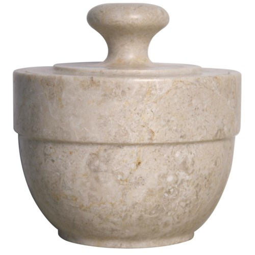 Z White Marble Sugar Urn