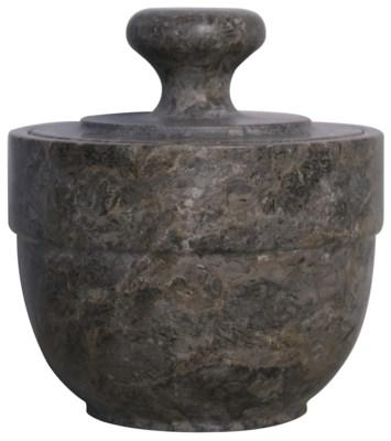 Black Marble Sugar Urn