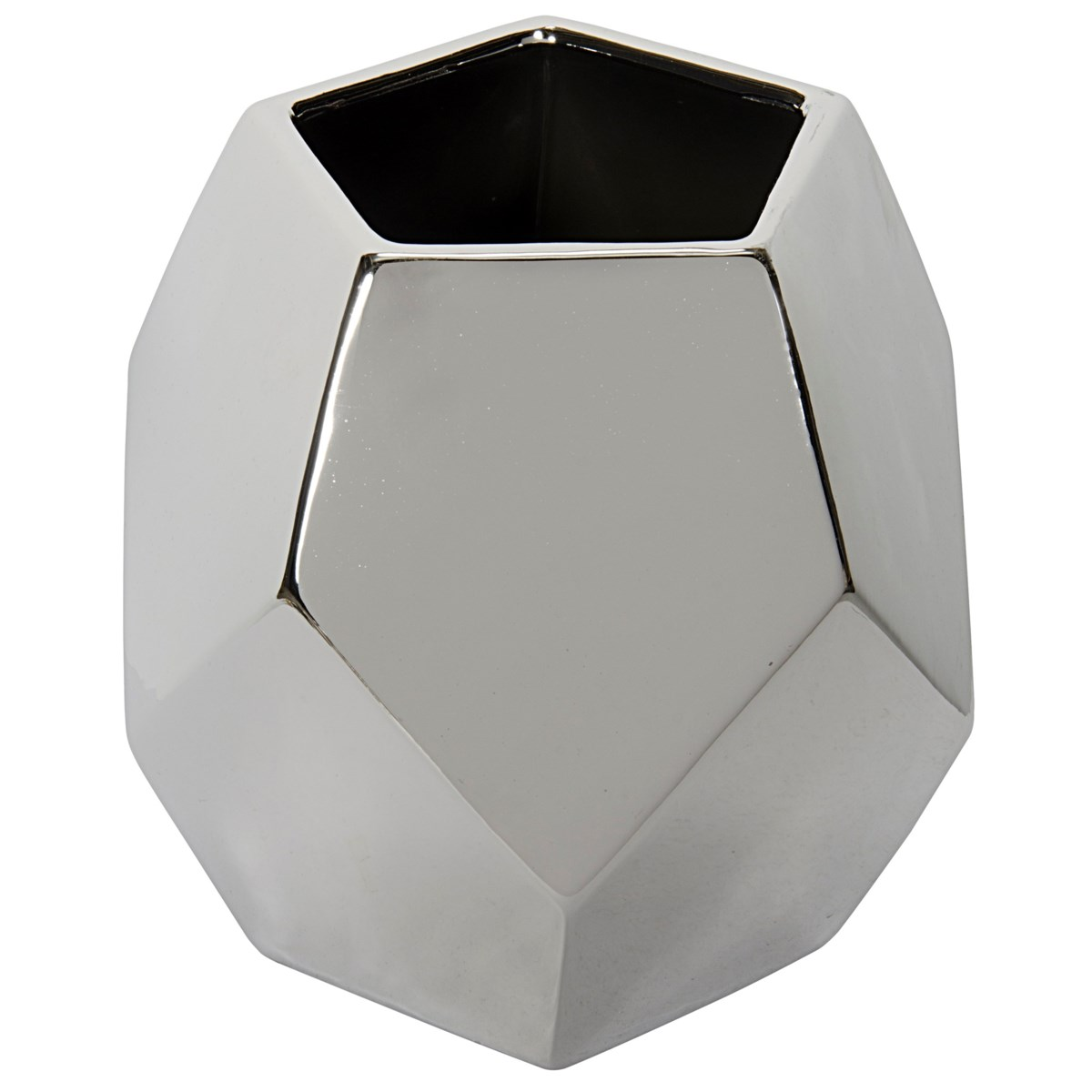 122 Ceramic Vase, Silver Finish
