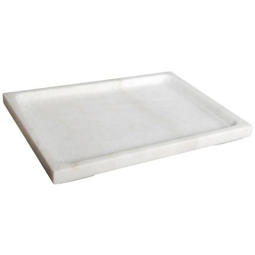 White Stone Tray