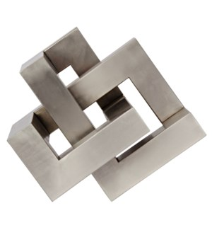 Illusion Object, Metal with Antique Silver Finish