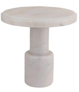 Plato Cake Tray, White Stone