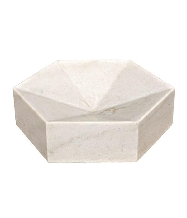 Conda Tray, White Marble