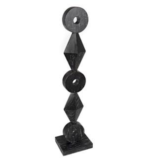 Totem Sculpture, Cinder Black