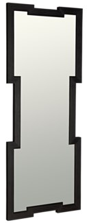Maze Mirror, Charcoal Black