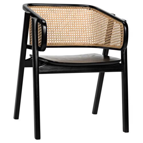Delphi Chair w/Caning, Charcoal