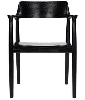 Laurel Chair, Charcoal Black