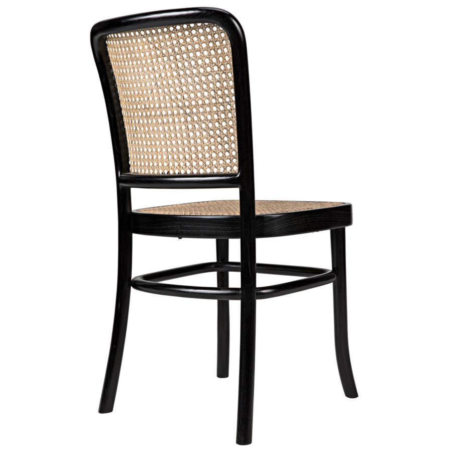 Didas Chair w/Caning Charcoal Black