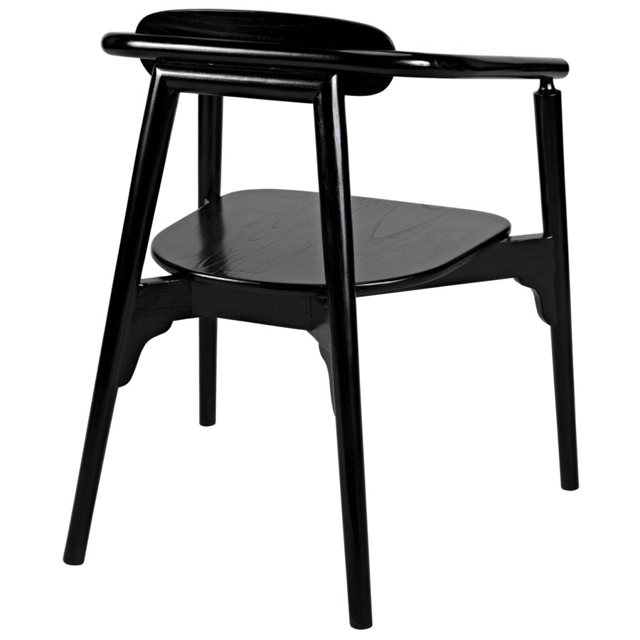 Dark Chair, Charcoal Black