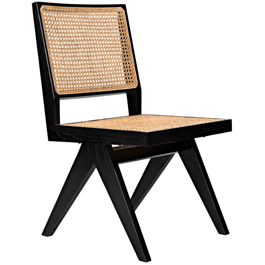 Joseph Side Chair, Charcoal Black