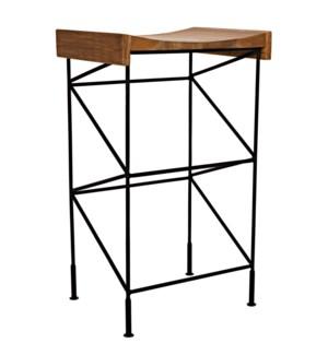 Bridge Bar Stool Teak Seat with Steel