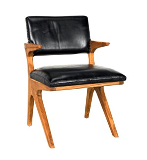 Dolores Chair, Teak with Leather