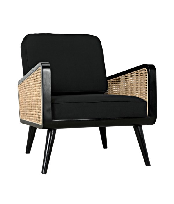 Edward Chair, Black w/Caning