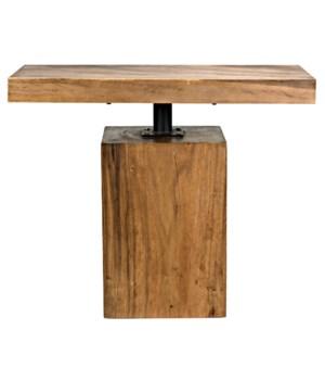 Titan Side Table, Mungur Wood