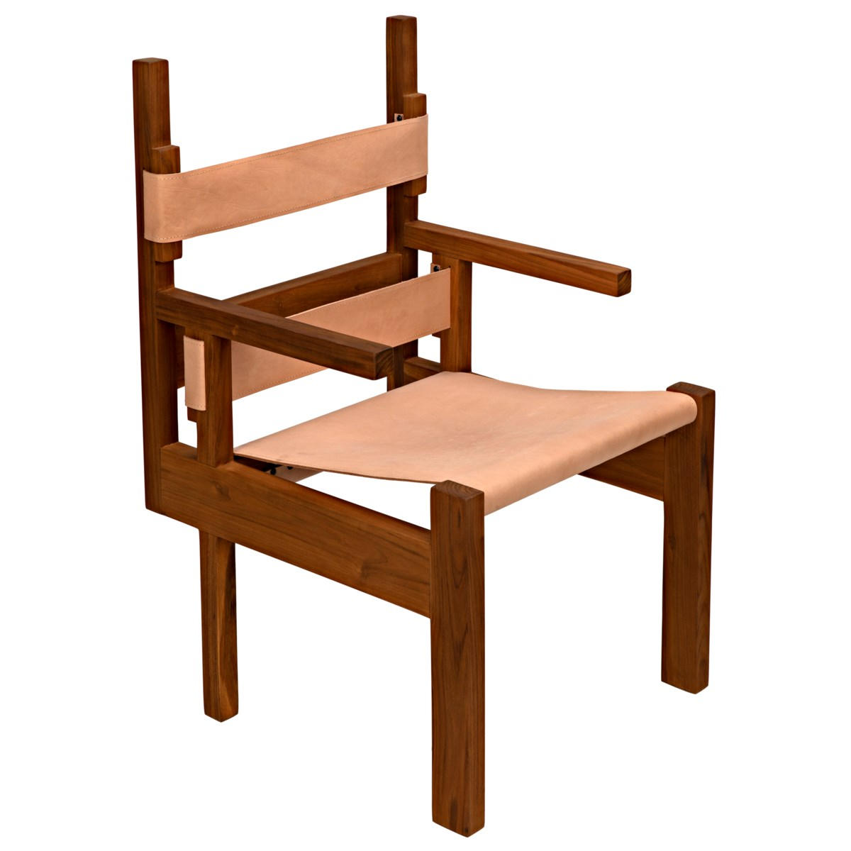 Berlin Chair w/Leather, Teak
