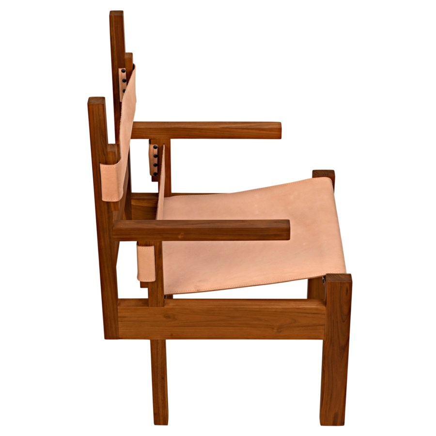 Berlin Chair w/Leather, Teak
