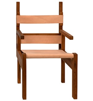 Berlin Chair with Leather, Teak