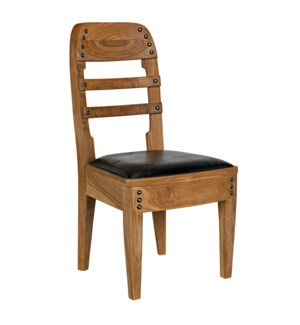 Laila Chair, Teak with Leather