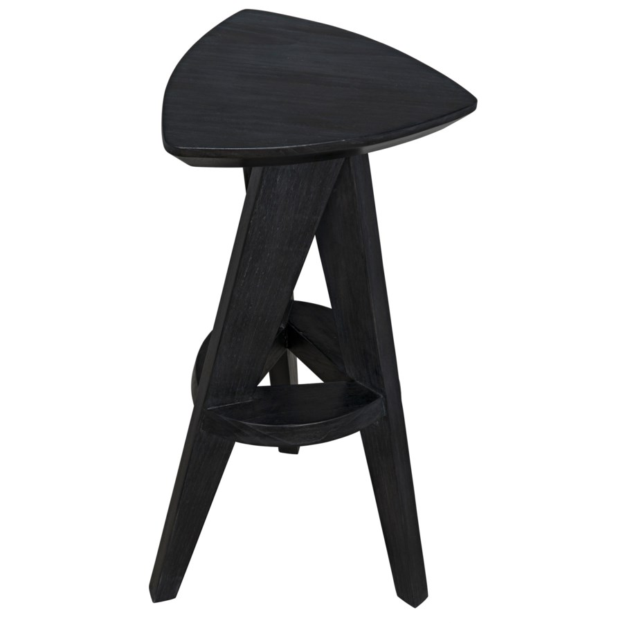 Twist Barstool, Charcoal Black
