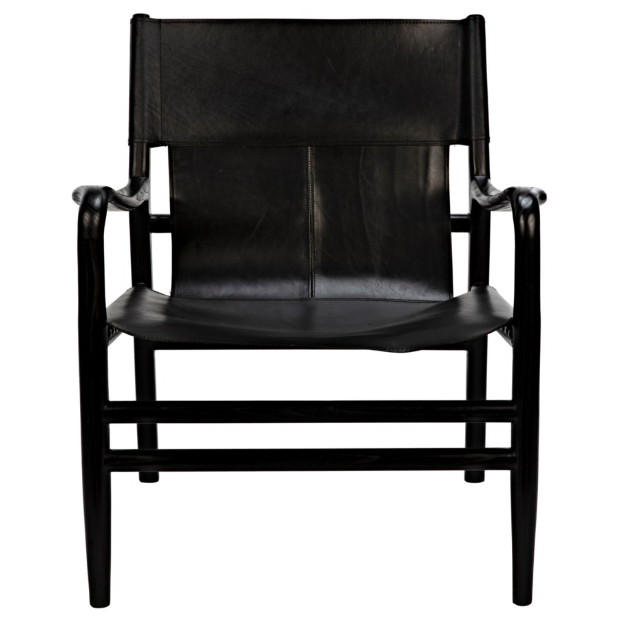 Clancy Chair w/Leather, Charcoal Black