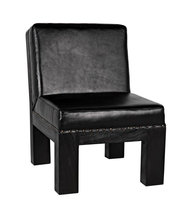 Pelham Chair, Charcoal Black with Leather