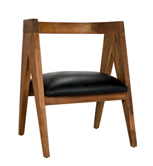 Nominee Chair, Teak with Leather