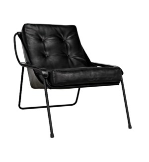 Mr. Malcom Chair, Leather with Metal
