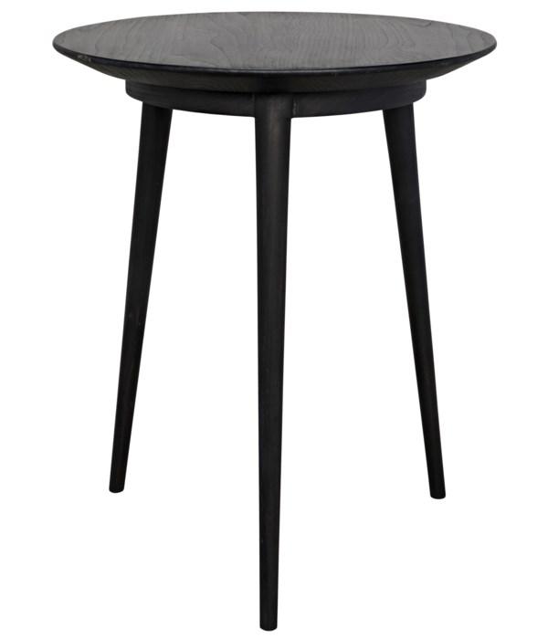 Tripod Side Table, Charcoal Black