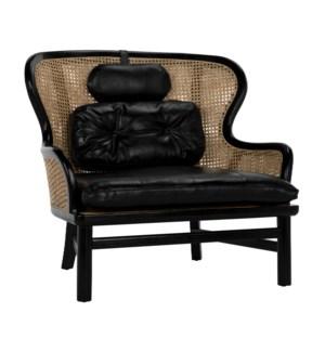 Marabu Chair, Charcoal Black with Leather