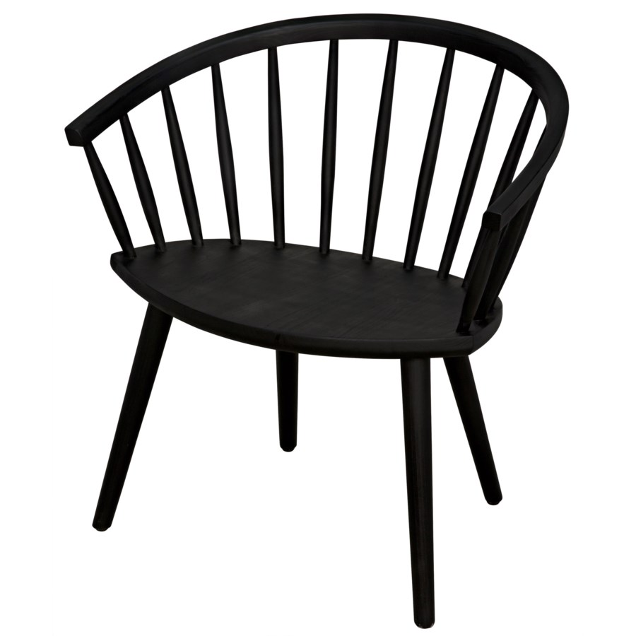 Pauline Chair, Charcoal Black