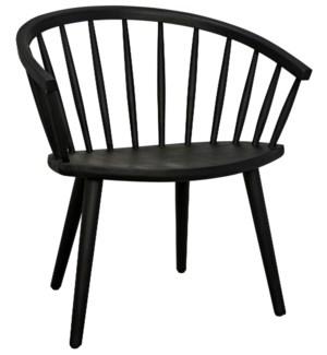 Pauline Chair, Charcoal Black