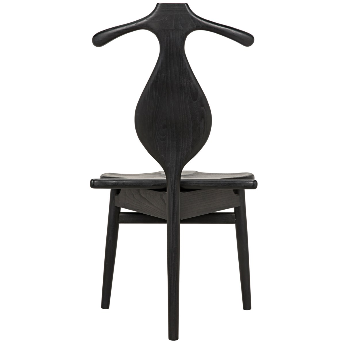Figaro Chair with Jewelry Box, Charcoal Black