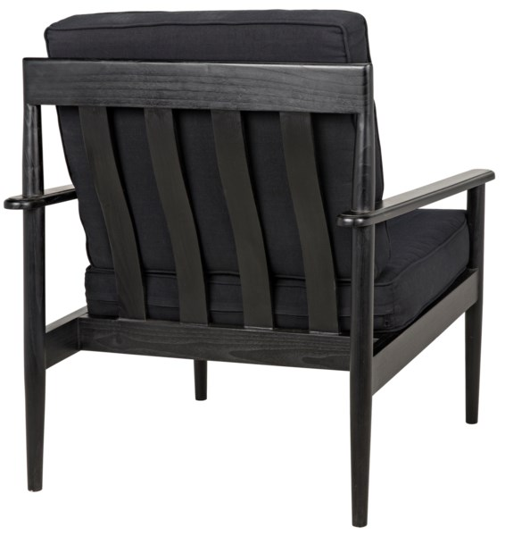 Corinth Armchair, Charcoal Black